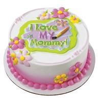 Vanilla Cake - Happy Moterhs day